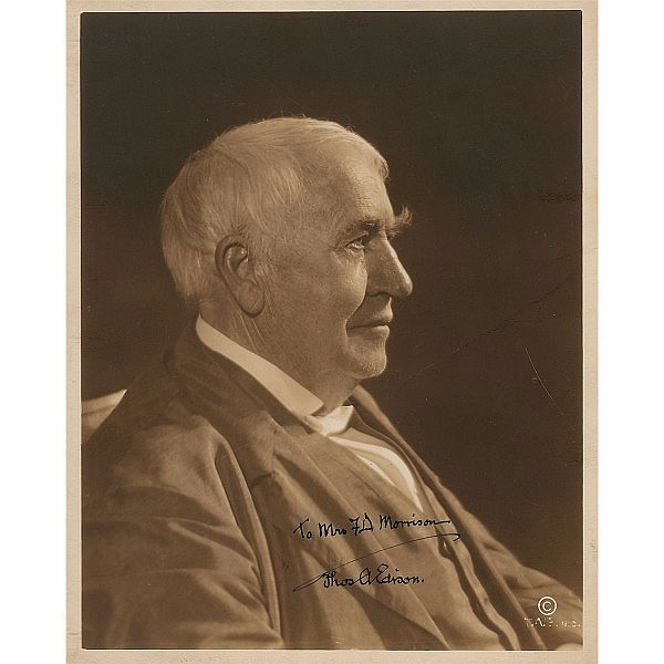 Thomas Edison Signed Photo
