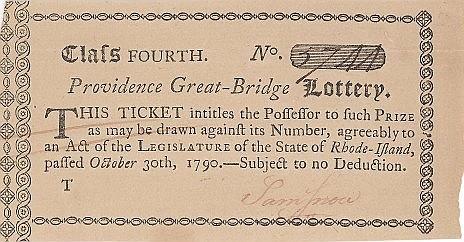 Rhode Island Lottery Ticket