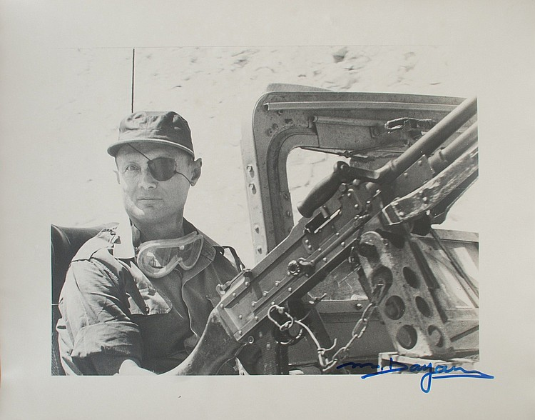 MOSHE DAYAN Signed Photo 16