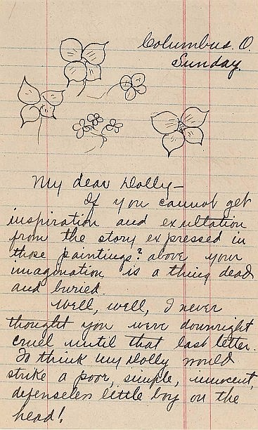 Zane Grey Emotional Letter