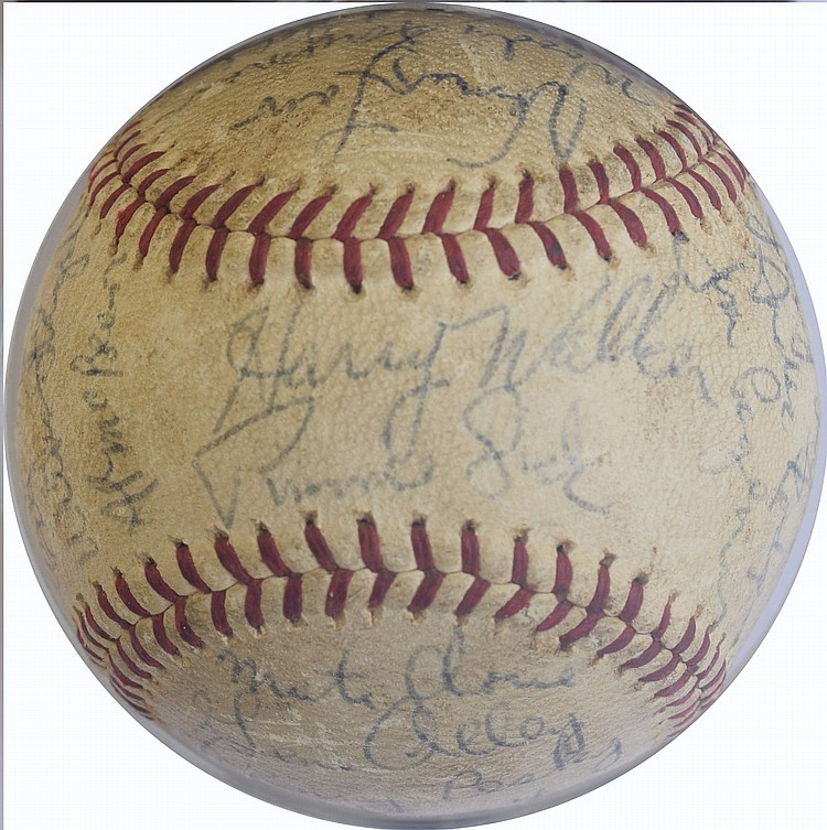 1966 Pittsburgh Pirates Team Signed Baseball - (28 Signatures) With Clemente!