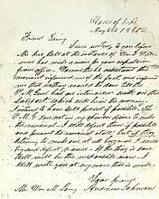 Andrew Johnson Rare Handwritten Letter