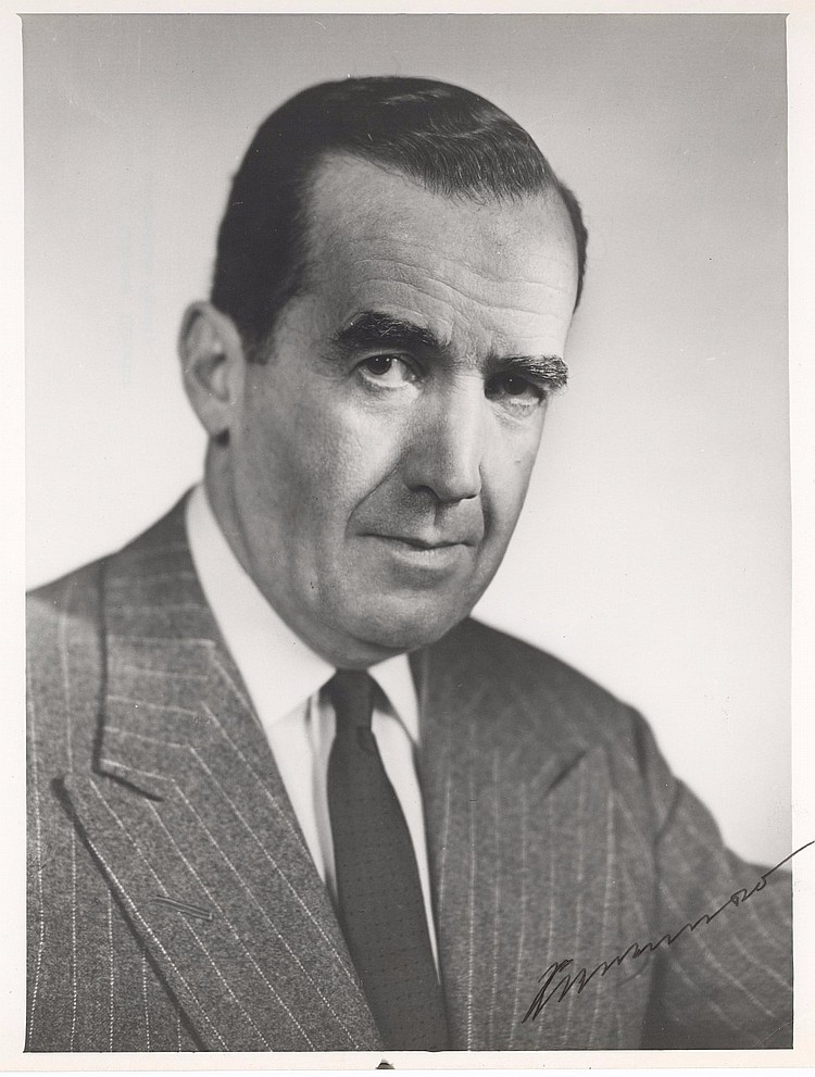 Edward R. Murrow Signed Photo