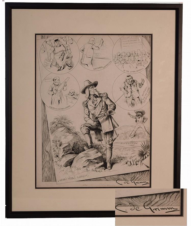 Custer Illustration by BARON C. DE GRIMM