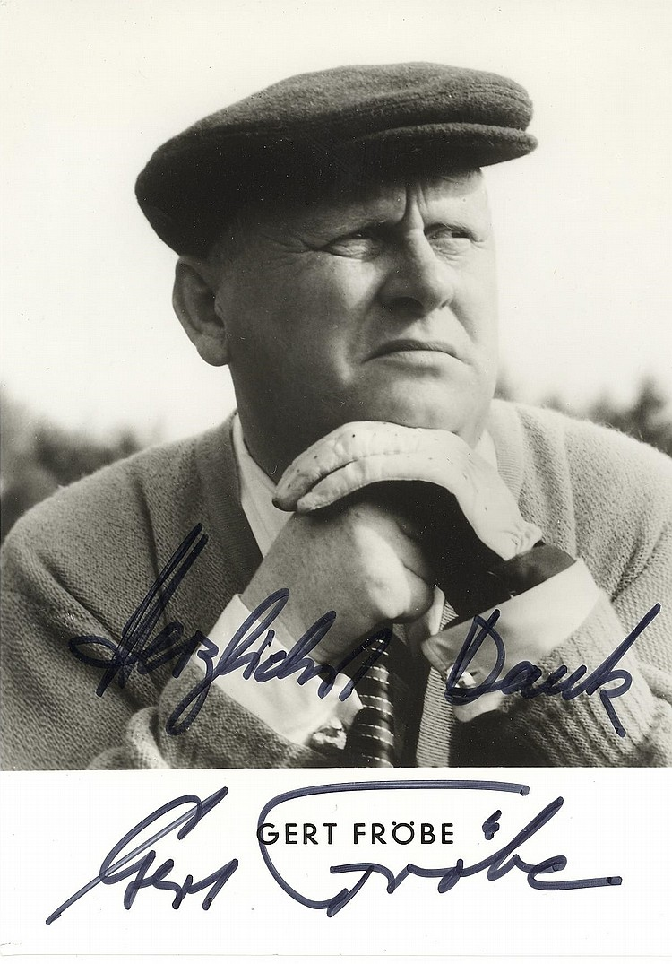 Gert Frobe Signed Photos (Goldfinger)