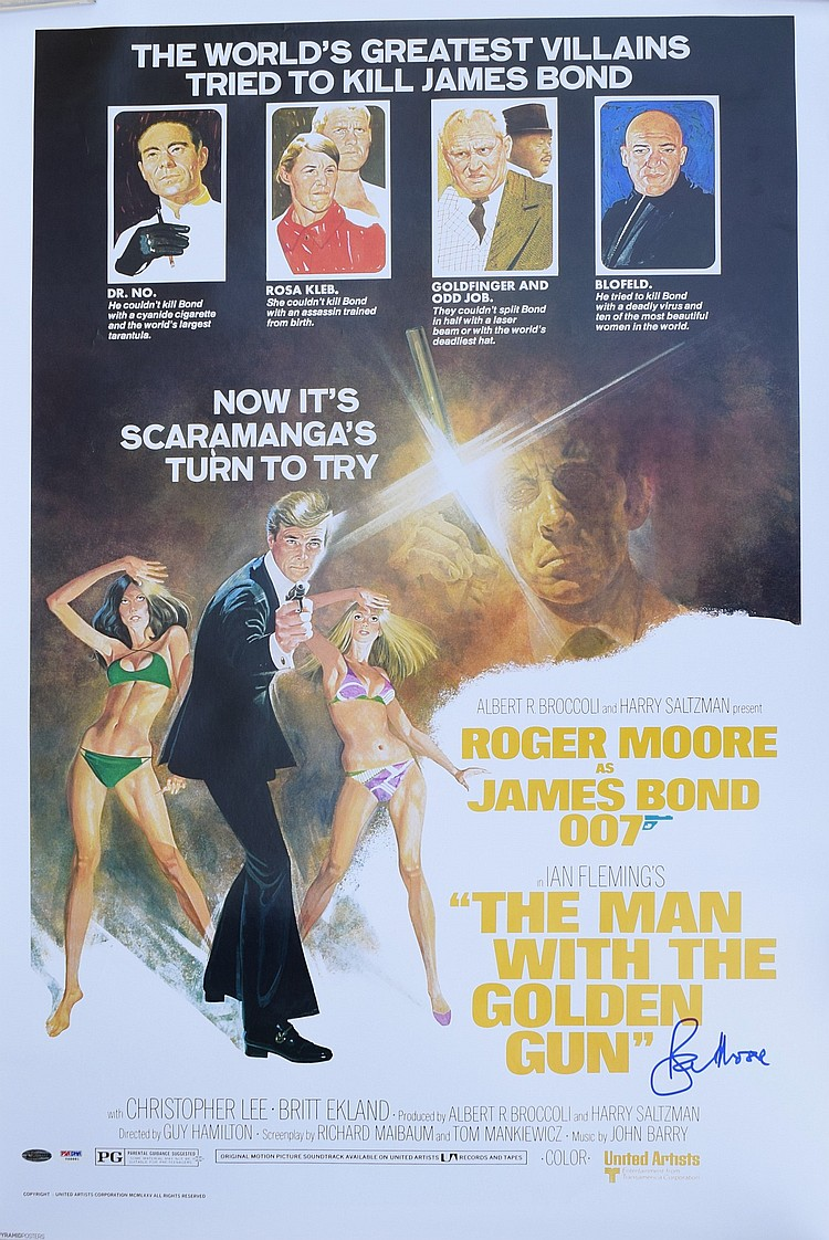 James Bond: The Man with the Golden Gun Signed Poster