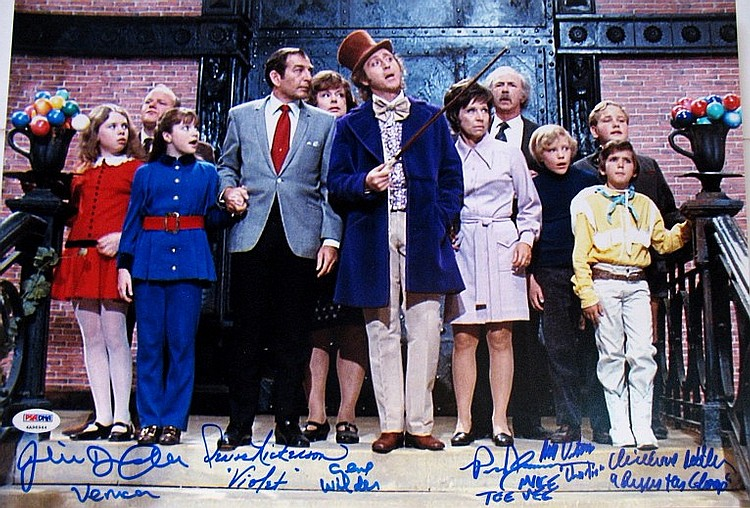 Willy Wanka Cast with Signed Gene Wilder