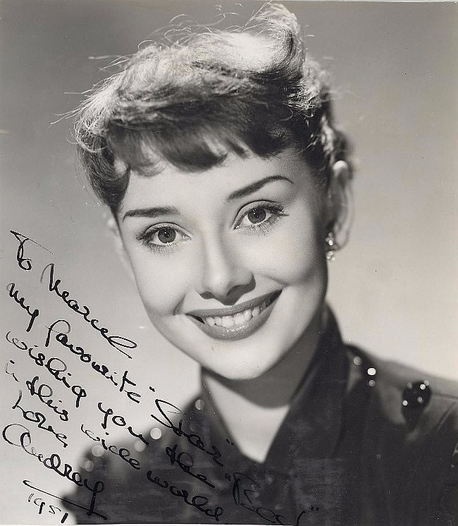 Audrey Hepburn Signed Vintage Photograph