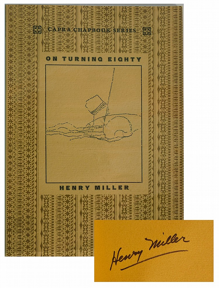 Henry Miller /On Turning Eighty Signed