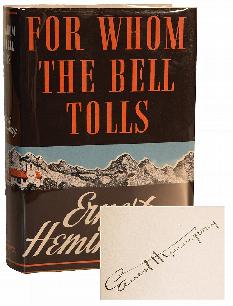 Ernest Hemingway Signed for Whom the Bell Tolls