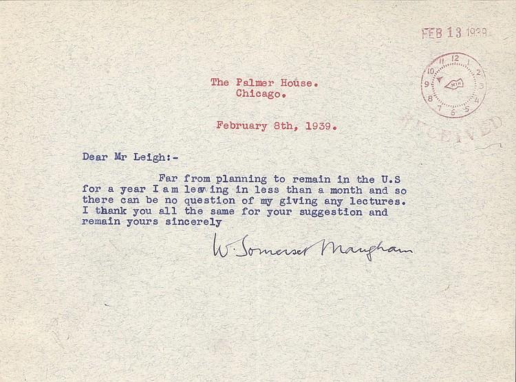 W. Somerset Maugham TLS