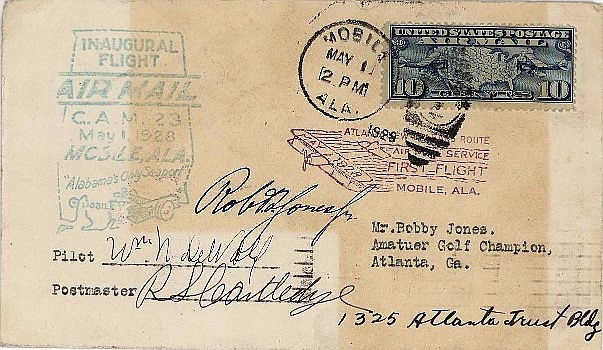 Legendary golfer Bobby Jones (signed Robert Jones Jr.),