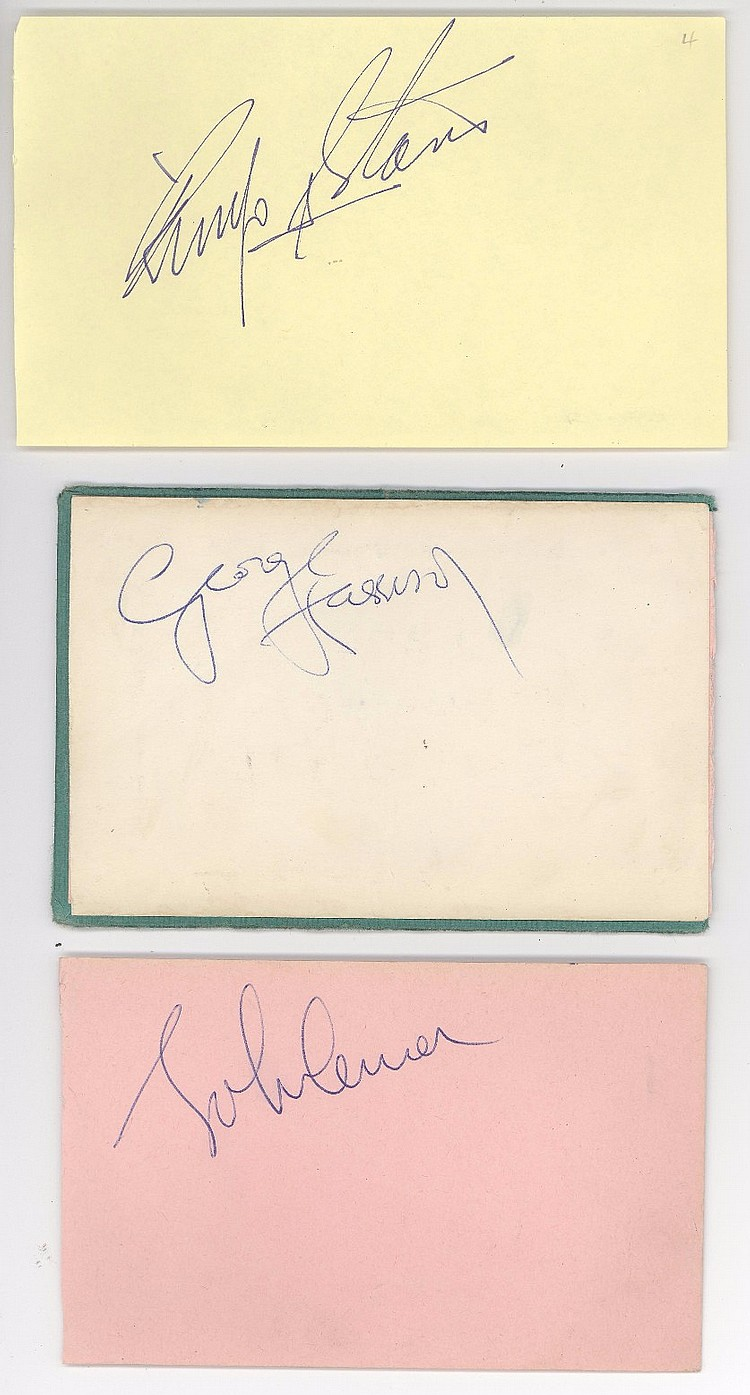 Beatles Signed Album Pages