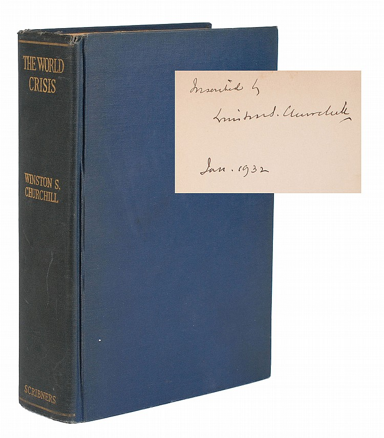 Winston Churchill Signed Book /World Crisis