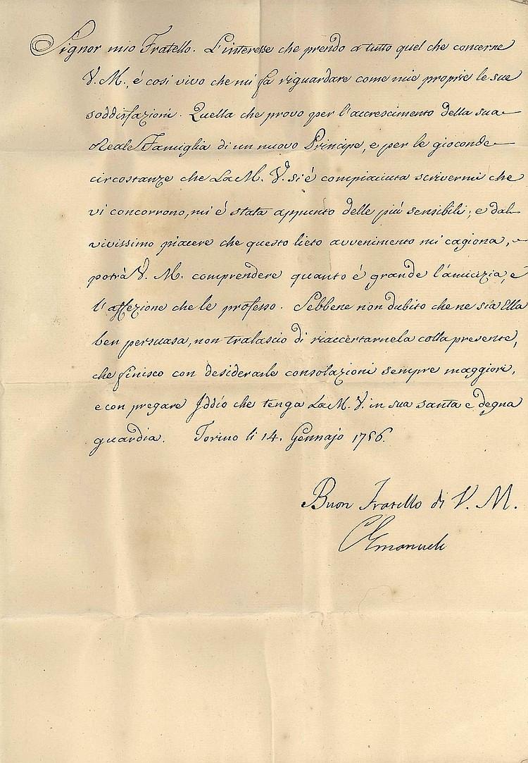 Charles Emmanuel III King of Sardinia LS 1756
