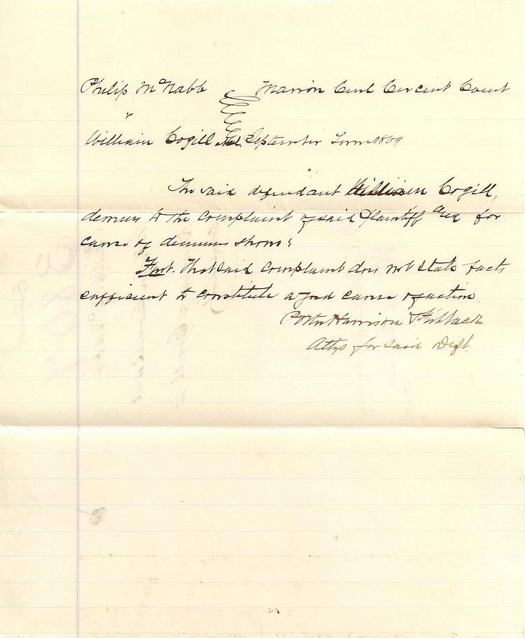 PRESIDENT BENJAMIN HARRISON AS CIVIL WAR ERA LAWYER