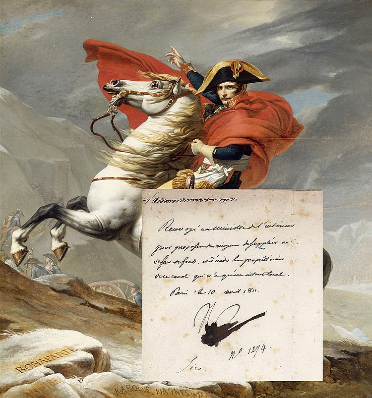 Extremely Rare Napoleon Handwritten Note