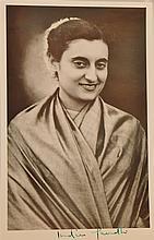 Indira Gandhi Signed Photo