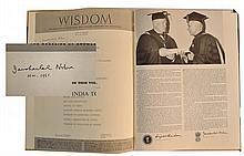 Jawaharlal Nehru signed book of Wisdom