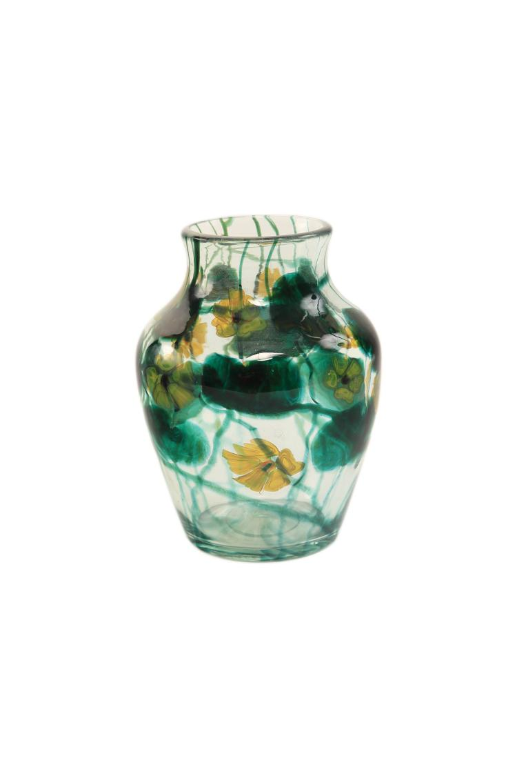 "A Tiffany Favrile ""Anemone"" Paperweight Vase"