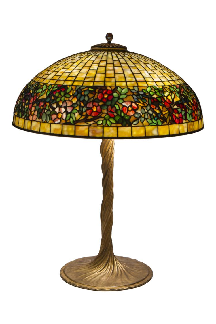 Tiffany Studios Belted Rose Table Lamp