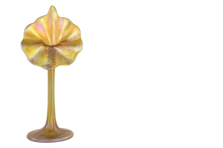 Tiffany Favrile Jack In The Pulpit Vase