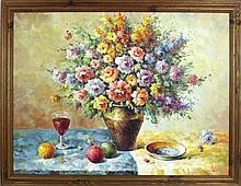 W. Adam - Original - Pintura a óleo sobre tela,