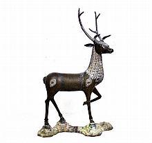 Veado escultura em bronze de grandes .Dim: