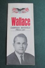 Group of George Wallace 1968 Election Material
