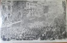The Seventh Regiment Leaving New York - Civil War