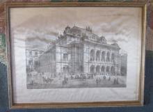 Royal Danish Theatre 1808 Silk Woven Picture