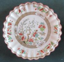 Early Copeland Scalloped Painted Plate