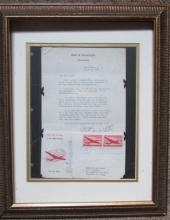 1st Day Cover Air Mail ~ Jesse Donaldson Letter