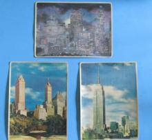 A Group of 3 New York City 3-D Postcards