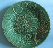 Floral Majolica 19th Century Plate