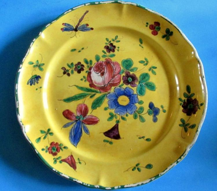 French Soft Paste Faience Plate