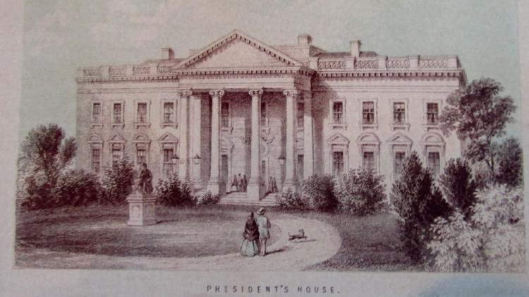 Rare View of Presidents House [White House]