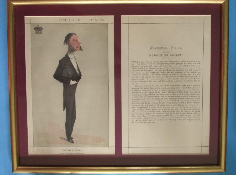 Vanity Fair Print Earl of Cork