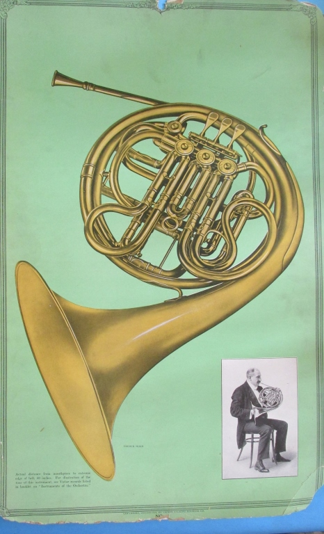 Victor Records Poster The French Horn