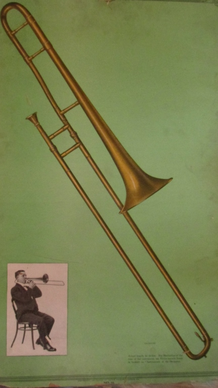 Victor Records Poster The Trombone