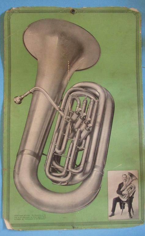 Victor Records Poster Tuba