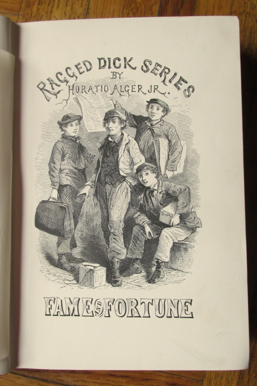 horatio algers ragged dick A fourteen year old homeless boy, dick, tries to make an honest living in the streets of 1860s new york as a bootblack he is determined to stay honorable, though.