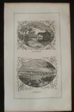 Early Engraving of Mount Vernon & Georgetown