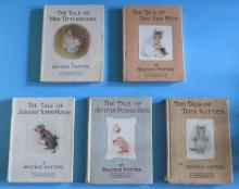 Group of 5 Beatrix Potter Books