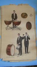 Victor Records Poster Percussion Drums