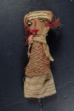Peruvian Chancay Burial Doll with Child