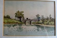 Nadeau (19th Century Boston) Watercolor