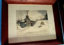 Fitzgerald (American) Winter at the Smoke House