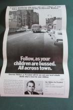 Rare George Wallace School Busing Poster 1968