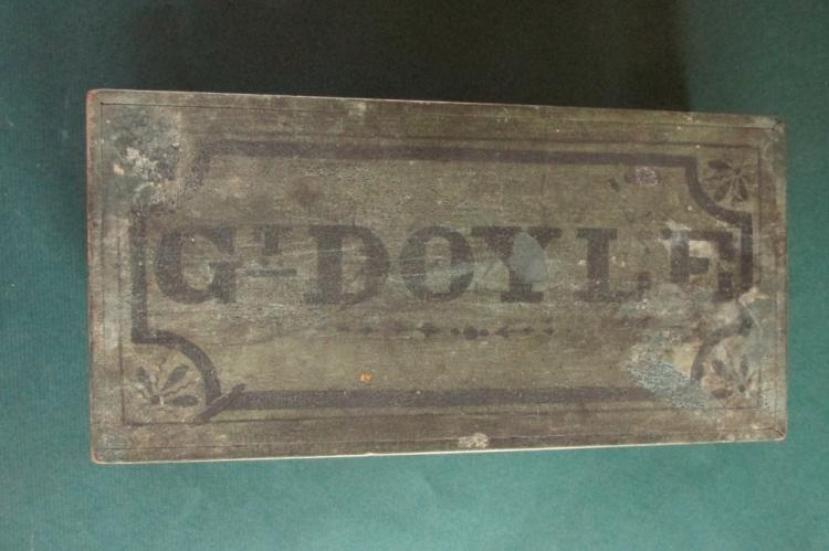 New England Folk Art Work Box c1840